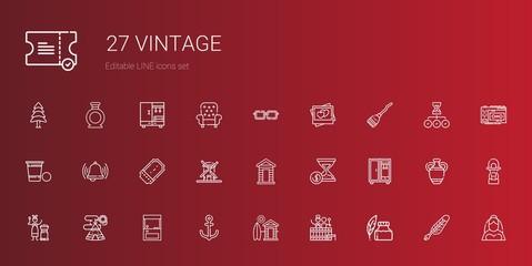 vintage icons set