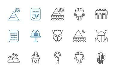 desert icons set