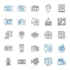 photo icons set