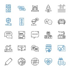 stroke icons set