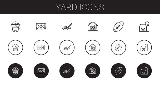 yard icons set