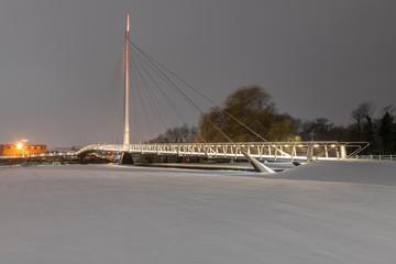 Snow - Reading, Christchurch Bridge, Reading Berkshire United Kingdom
