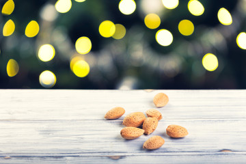 a bunch of almonds