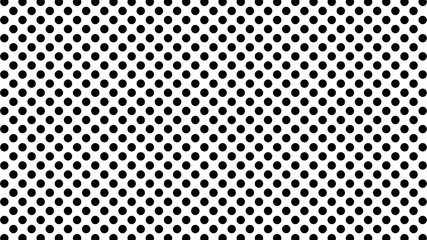 Polka dots abstract pattern comic Pop-art halftone black and white color Seamless background. Geometric wallpaper, good for printing.