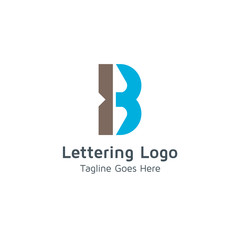 Lettering B Vector