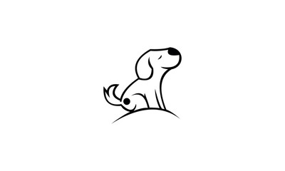 vector ilustration of dog