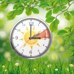 Clock Change Standard Time Sun Spring Green