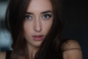 Portrait of a cute young woman.