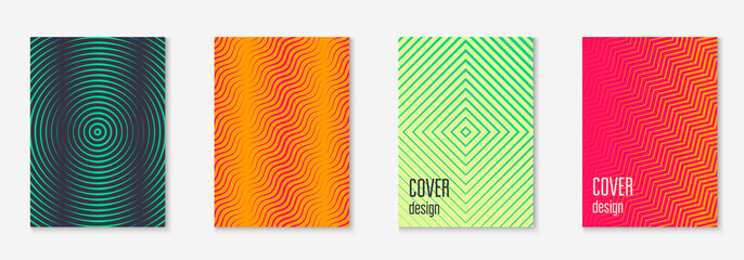 Music cover. Green and yellow. Colored journal, mobile screen, presentation, folder concept. Music cover with minimalist geometric line and trendy shapes.