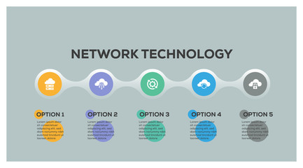 NETWORK TECHNOLOGY INFOGRAPHIC DESIGN