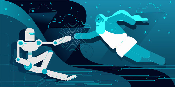 The Creation of robot android Adam by Great IT Architect of the Universe.