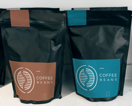 Coffee bean bag mockup design