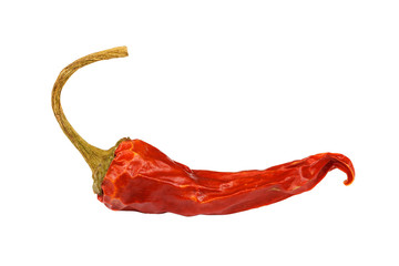 Wall Murals Hot chili peppers Red hot pepper isolated on white background