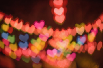 Valentines Day. Heart bokeh background.