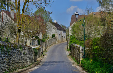 Cherence, France - april 3 2017 : picturesque village in spring