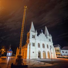 Santa Cruz Basilica in Cochin night, Kerala, India