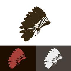 Indian Headdress. Vector illustration.