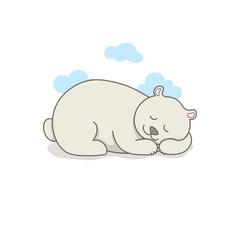 Indian Cute Bear. Vector Illustration.