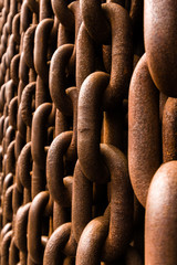Rusted chain, shallow depth of field