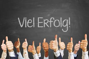 Erfolg Motivation Slogan auf Tafel