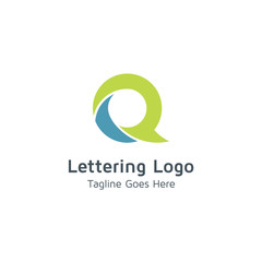 Lettering Q vector