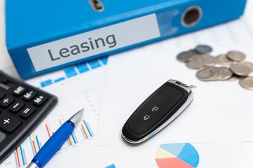 Car leasing concept, car keys, remote control