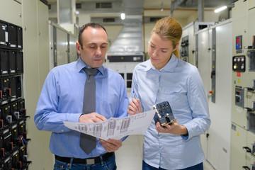 professional showing machine room blueprint