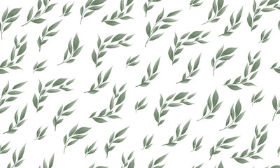 Seamless leaves pattern. Design for banner, poster, card, cover, invitation, placard brochure or header.