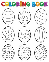 Printed roller blinds For Kids Coloring book Easter eggs theme 2
