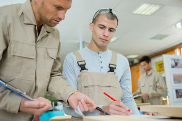 craftsmen working at workshop