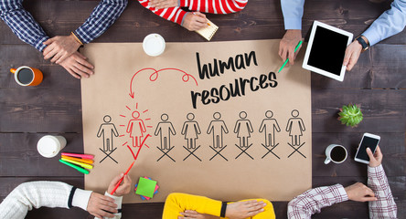 Business team meeting about human resources concept