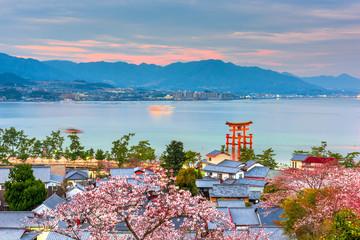 Wall Mural - Miyajima Island, Hiroshima, Japan in spring