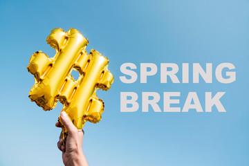 text hashtag spring break
