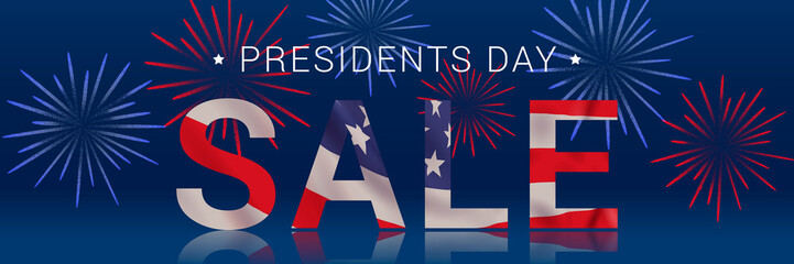 Vector banner design template for Presidents Day. Fotomurales