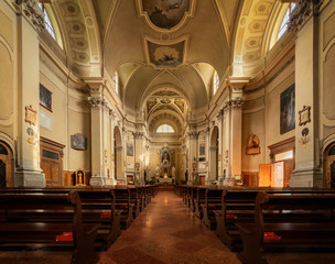 Beautiful interior of church of Saints Vito, Italy