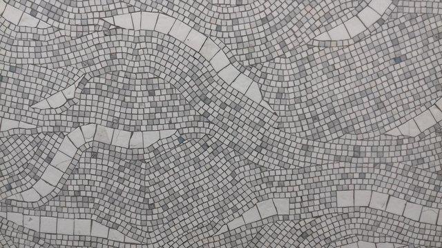 white mosaic
