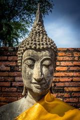 Buddha statues in Ayutthaya Thailand