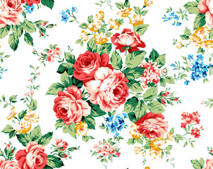Rose floral pattern with beautiful little element