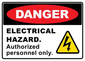 danger electric hazard sign Wall mural