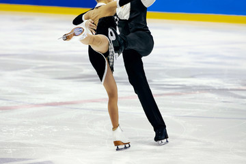 figure skating pair skaters in free skating compete