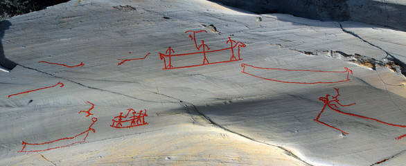 Rock art in Alta, located  in northern Norway within the Arctic Circle. The rock art in Alta belongs to the UNESCO World Heritage Site