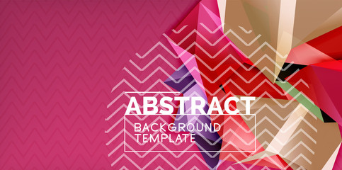 Low poly design 3d triangular shape background, mosaic abstract design template