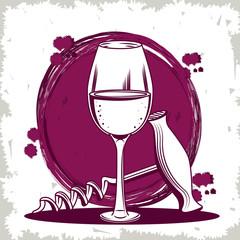 Winery vintage drawing