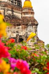 Buddha statue at Wat Yai Chai Mongkon, Ayutthaya, Thailand, Asia