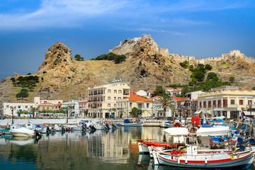 Hafen von Myrina in Limnos (Griechenland)