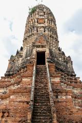 remains of pancharam at Wat Chai Watthanaram, Ayutthaya, Thailand, Asia