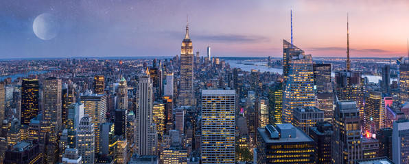 New York City Manhattan wide panorama, USA Fototapete