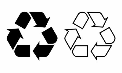 Recycle symbols illustration