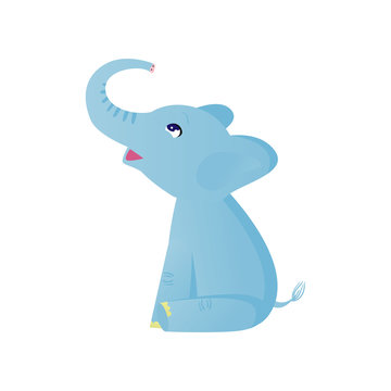 Elephant Sitting Cartoon Stock Photos And Royalty Free Images Vectors And Illustrations Adobe Stock