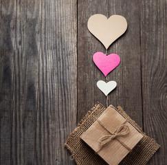Valentine's Day Background for congratulations valentine view top vintage retro